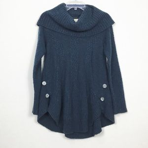 Anthropologie Angel of the North Button Sweater